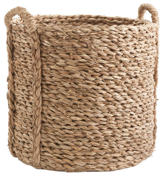 How To Weave A Hazel Basket : Large woven seagrass basket modern baskets dallas