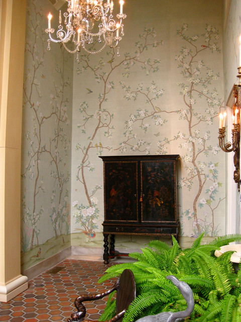 Chinoiserie wallpapers asian wallpaper other metro for Asian wallpaper mural