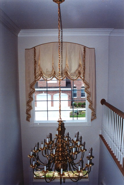 Blinds For Large Foyer Window : Looking up arched foyer window treatments traditional