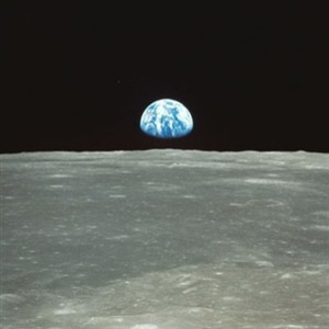 Earth from moon wall mural contemporary wallpaper by for Earth moon wall mural