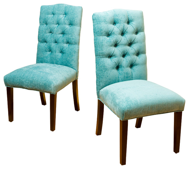 Clark Soft Fabric Dining Chairs Set Of 2 Contemporary Dining Chairs By