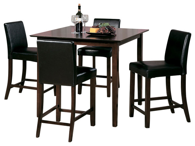 Homelegance weitzmenn 5 piece counter dining room set in for Traditional kitchen table sets