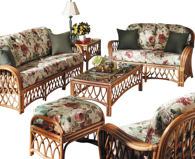 5 piece montego bay living room set augusta toffee for Tropical living room furniture