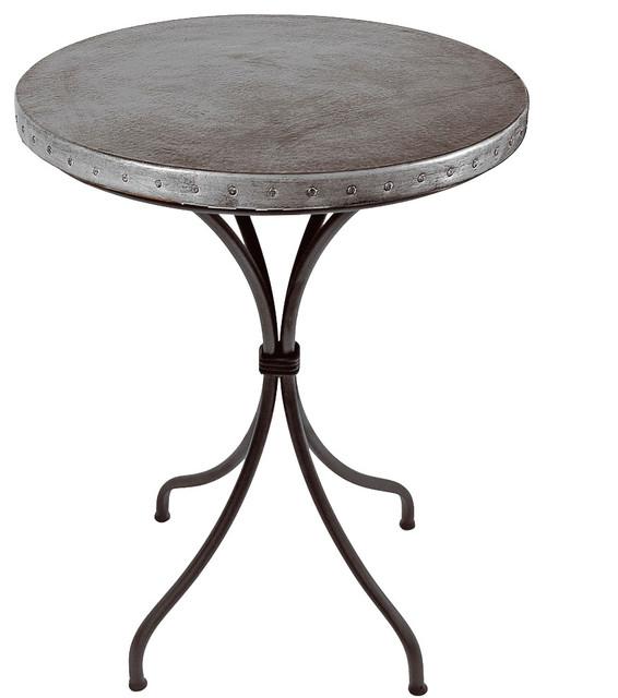 Italia Round Counter Table Zinc Indoor Pub And Bistro  : indoor pub and bistro tables from houzz.com size 566 x 640 jpeg 53kB
