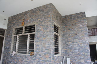 Exterior wall designs indian houses home design and style for Exterior tiles design india