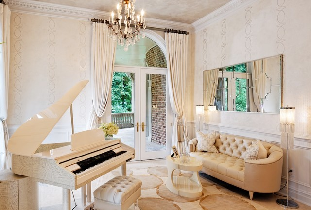 Piano Room Traditional Living DC Metro By