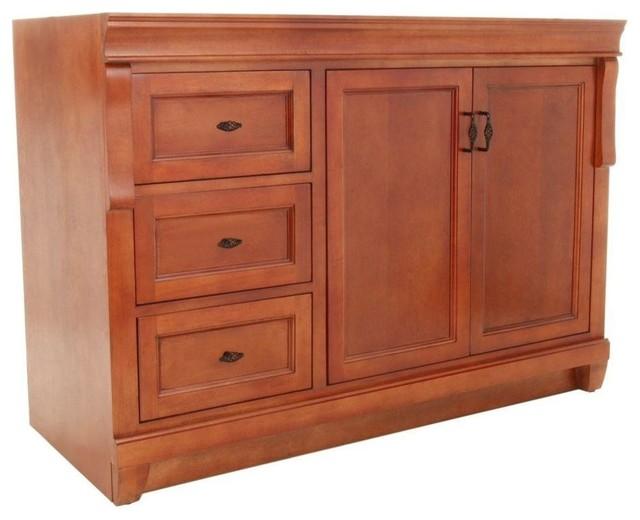 Naples vanity cabinet only warm cinnamon 48 39 39 for Bathroom cabinets naples fl