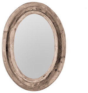 Natural Finish Oval Mirror - Traditional - Wall Mirrors - by Wisteria