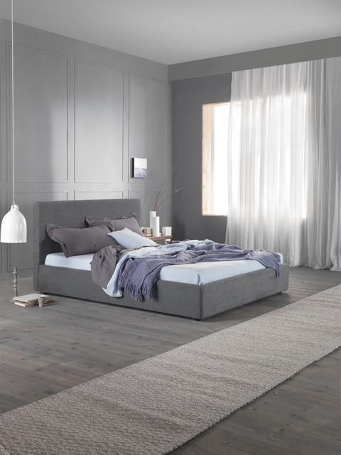 modernes bett daily 160 cm grau contemporain lit. Black Bedroom Furniture Sets. Home Design Ideas