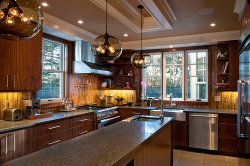 Dark Kitchen Cabinets And Light Granite