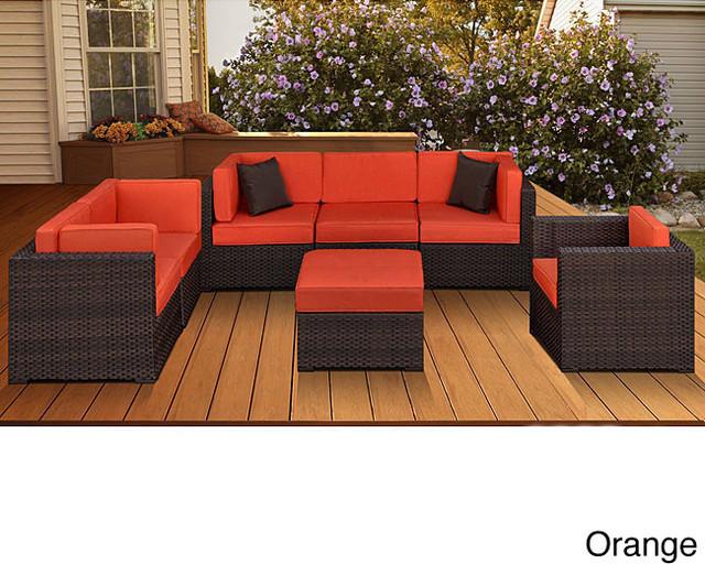 naples 7 piece patio furniture set contemporary