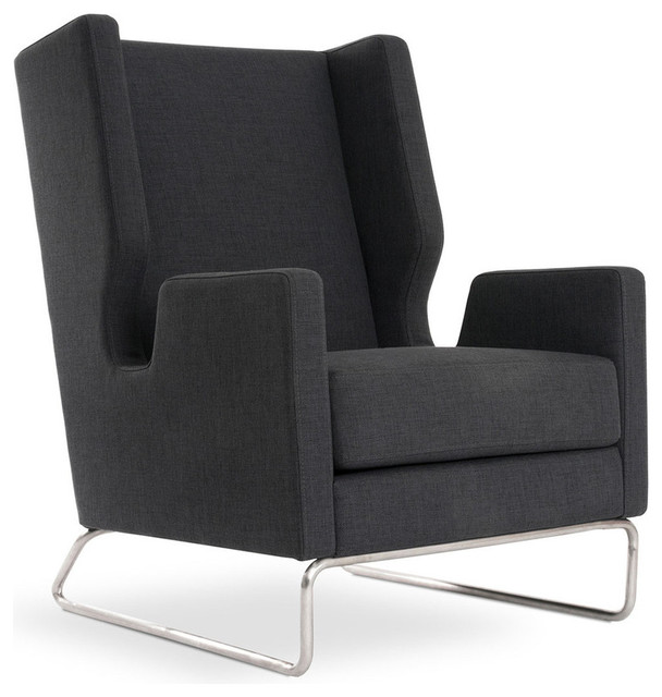 Colby Accent Chair Modern Contemporary Dusk Living Room: Danforth Chair By Gus Modern, Urban Tweed Ink