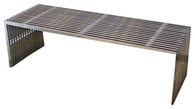 Stainless Steel Bench - Modern - Accent And Storage Benches