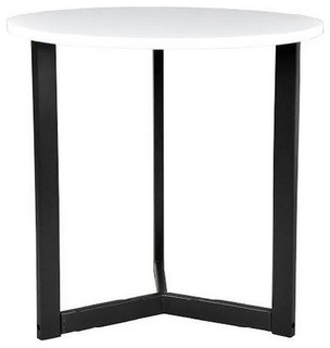 Tall white gloss side table modern side tables and for Tall white end table