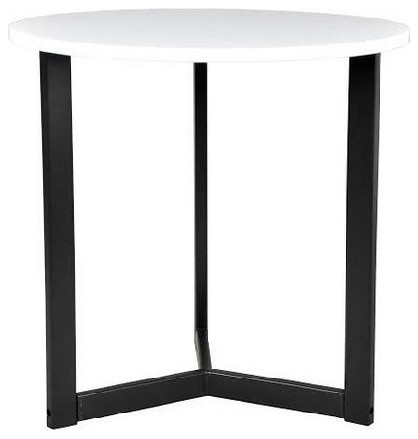 Tall white gloss side table modern side tables end for Tall white end table