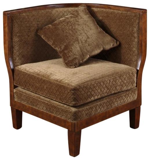 Corner Accent Chairs: Uttermost Rollins Corner Chair Sculpted Plush Sage