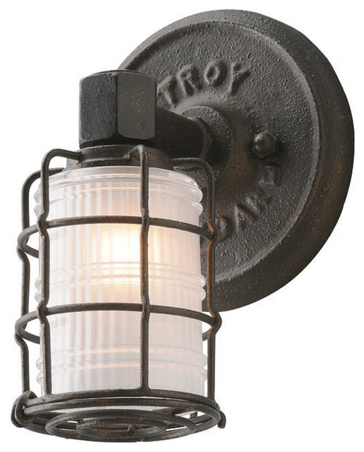 Mercantile 1 Light Bathroom Vanity Lights in Vintage Bronze - Industrial - Bathroom Vanity ...