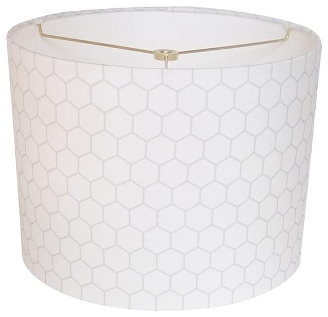 Drum Lamp Shade White Gray Contemporary Lamp Shades