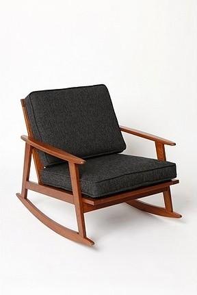 mid century rocker chair bauhaus look schaukelstuhl
