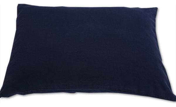 stone washed bed linen pillow case navy blue euro sham contemporary pillowcases and shams. Black Bedroom Furniture Sets. Home Design Ideas