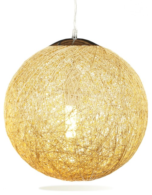 Tress suspension boule contemporain suspension for Luminaire suspension boule