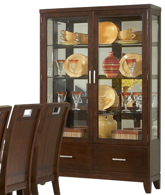 Homelegance Keller 48 Inch Buffet & Hutch in Brown - Traditional - China Cabinets And Hutches ...