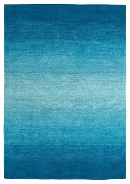 Peacock Ombre Stripe Rug Contemporary Rugs Other