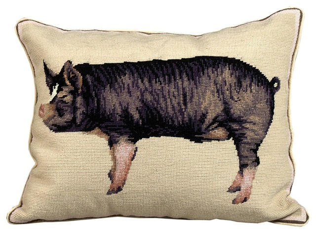 Berkshire Pig - Farmhouse - Decorative Pillows - by Scully & Scully