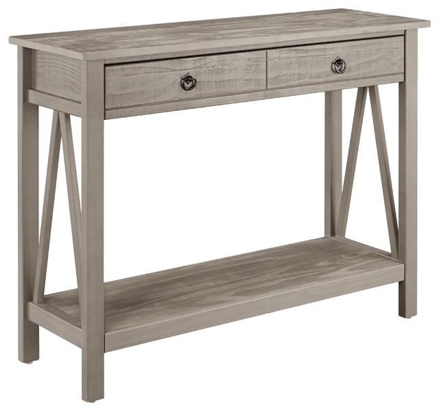 Titian Console Table Rustic Gray Contemporary