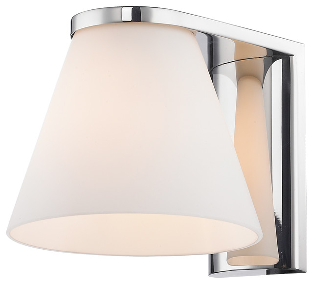 Contemporary Chrome Wall Sconces : Beale Wall Sconce, Chrome Finish - Contemporary - Wall Sconces - by Lighting New York