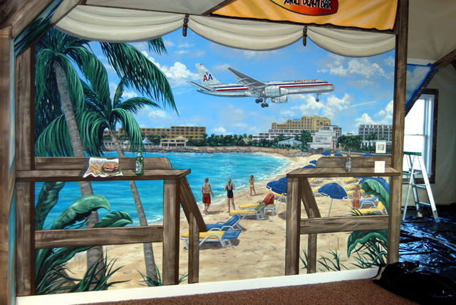 St. Maarten Beach Bar Themed Mural By Tom Taylor Of Wow