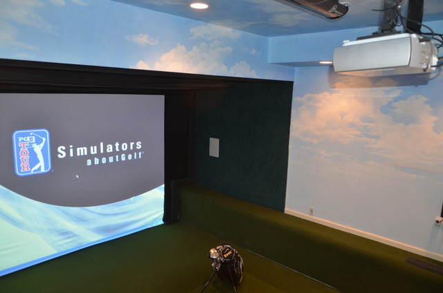 golf simulation room golf room basement golf modern home design