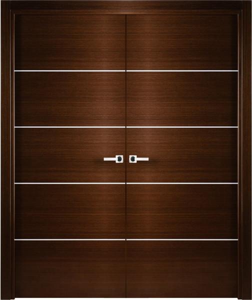 Contemporary Italian Wenge Interior Double Door With