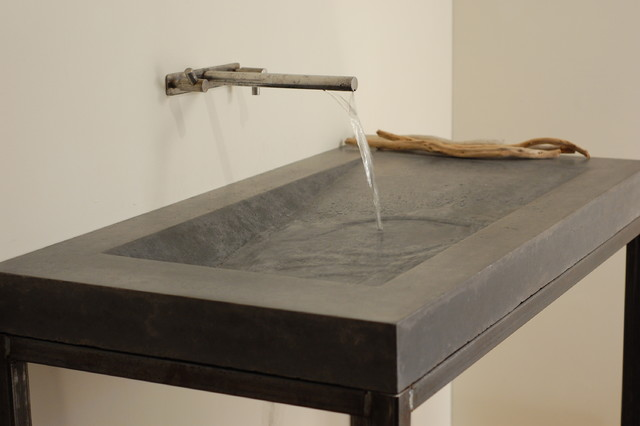 concrete alpine sink modern bathroom sinks miami by miano