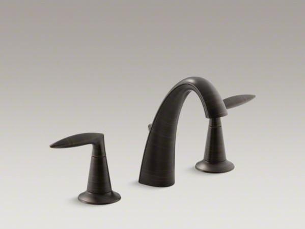 Kohler Alteo R Widespread Bathroom Sink Faucet With Lever Handles Contemporary Bathroom