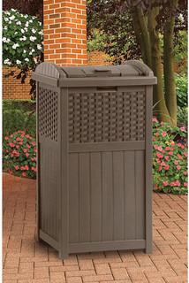Suncast Trash Hideaway, Resin Wicker - Contemporary - Outdoor Trash Cans - by Walmart