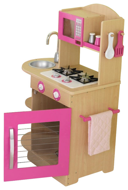 pink wooden kitchen by kidkraft contemporary toys