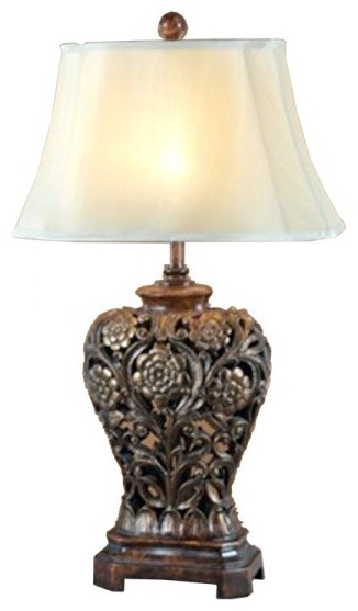 Antique vase bedroom table lamp traditional table - Traditional table lamps for bedroom ...