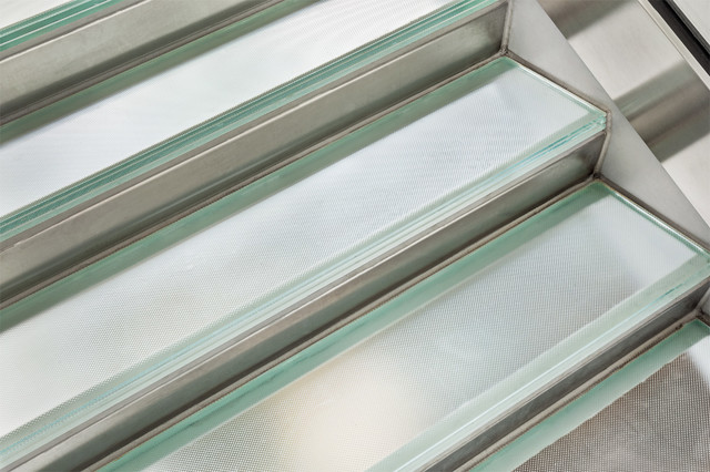 Glass Stair Treads Flooring Modern Staircase By Nathan Allan