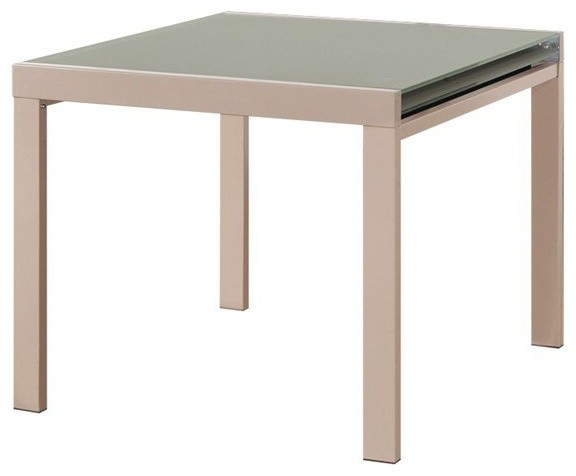 Universe table repas extensible carr e taupe design for Table carree 70x70 extensible