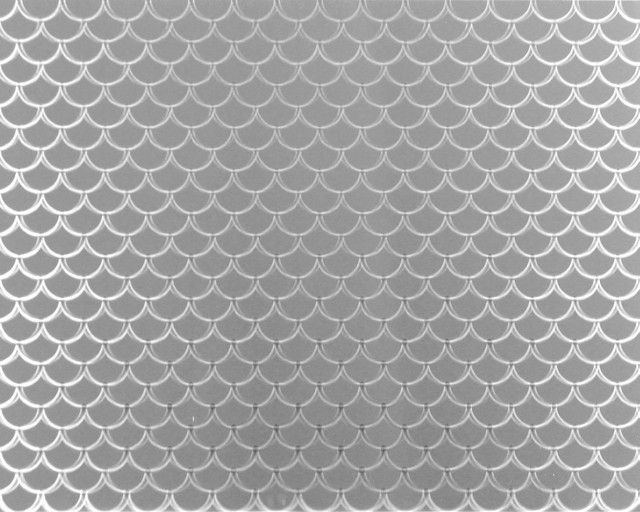 Scalloped Stainless Steel Kitchen Backsplash - Contemporary - Wall And Floor Tile - by SpectraMetal