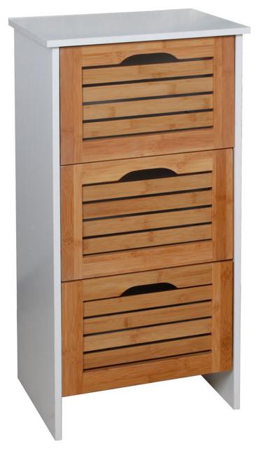 photos  meuble salle de bain bois et bambou tiroirs moderne placard etagere