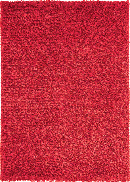 Velvet felted red rug contemporary area rugs for Red area rugs contemporary