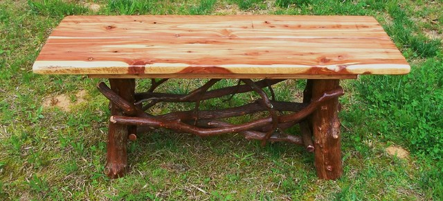 Rustic Coffee Tables Cedar Rustic Coffee Tables Other Metro By