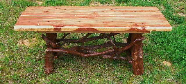 Rustic coffee tables cedar