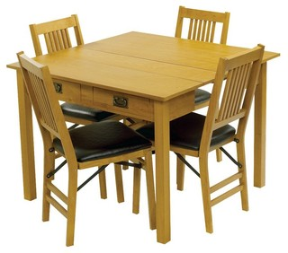 Meco Mission Style Expanding Dining Table 4272VFW Contemporary Dining T