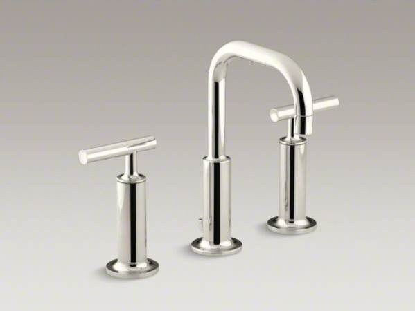... faucet with high lever handles and low contemporary-bathroom-faucets