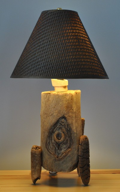 Driftwood table lamp lampe de bois flott ou bois de mer - Lampe de table bois ...