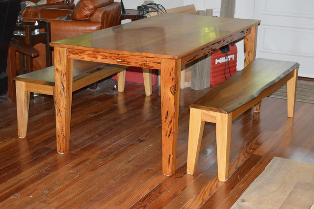 Sinker Cypress Dining Table Craftsman Dining Tables By Don