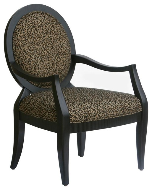 Missoni Style Print Accent Chair: Lenox Accent Chair In Leopard Print